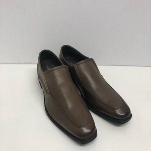Giorgio Brutini shoes brown leather slip on